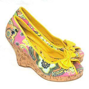 Not Rated Brand Women's Canvas Cork Wedge Heels